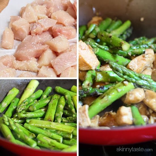 Chicken and Asparagus Lemon Stir Fry | Skinnytaste