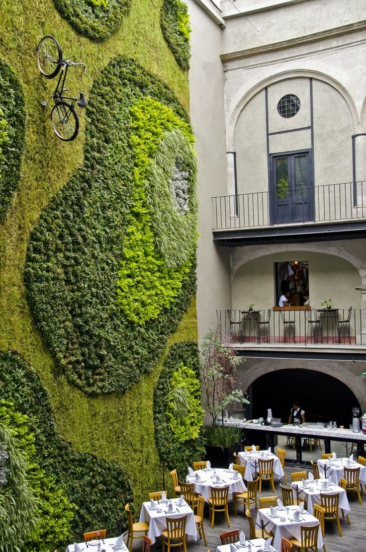 Top 100 Travel Trends: The Green Wall in Mexico City #wanderlust #greenfacade