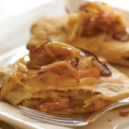 Recipes | Buckwheat Crepes with Sauteed Apples and Gruyere Cheese | Sur La Table