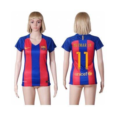 Barcelona Fodboldtøj Dame 16-17 Neymar Jr 11 Hjemmebanetrøje Kortærmet.  http://www.fodboldsports.com/barcelona-fodboldtoj-dame-16-17-neymar-jr-11-hjemmebanetroje-kortermet.  #fodboldtrøjer