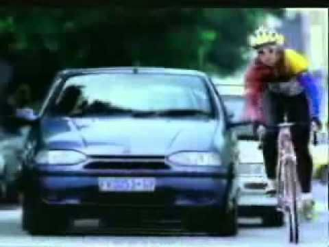 The Funny Cyclist Leans On Car Advert By Fiat. South African Ads Are The Best!