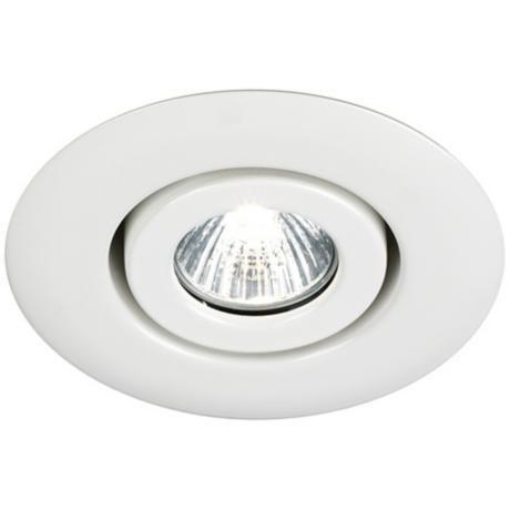 Juno 4 Quot Low Voltage White Gimbal Recessed Light Trim
