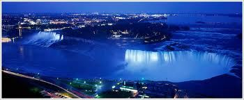 Niagara falls Canada.Niagara Falls  is the collective name for three waterfalls that straddle the international border between the Canadian province of Ontario and the U.S. state of New York