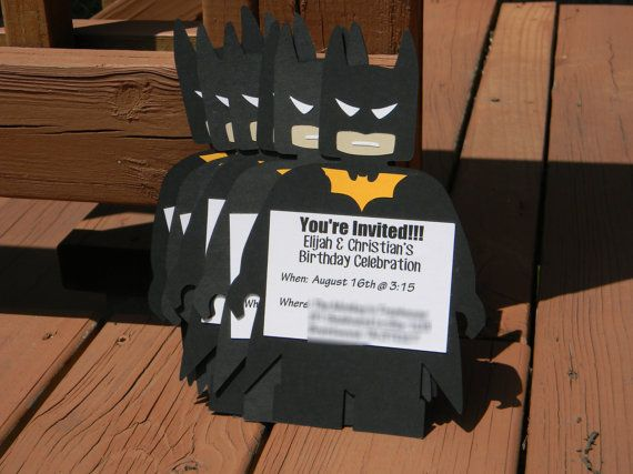 Batman Birthday Invitations Batman by CreativeCoupleDnT on Etsy