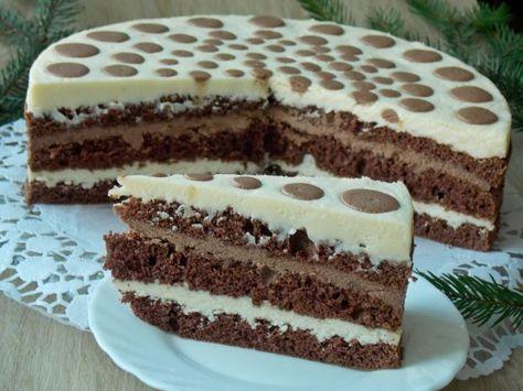 Mleczny tort serowy