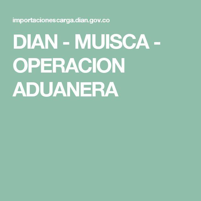 DIAN - MUISCA - OPERACION ADUANERA