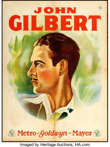 """Movie Posters:Miscellaneous, John Gilbert (MGM, 1920s). Argentinean Personality Poster (21.5"""" X29""""). Miscellaneous.. ..."""