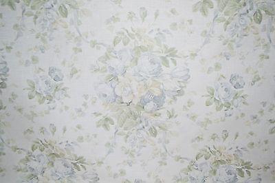2 Yds Bennison Roses Linen Designer Fabric Pale Green