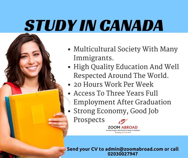 With affordable tuition fees, quality education, post-study work options & world renowned institutions, Canada is a leading destination for studying abroad. LEARN MORE: www.zoomabroad.com