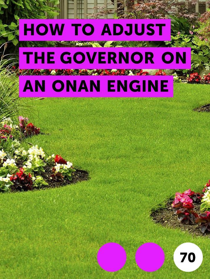 How to Adjust the Governor on an Onan Engine | Lawn Mowers | Cement