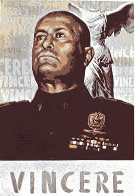 Cartel propaganda de la Italia Fascista -3