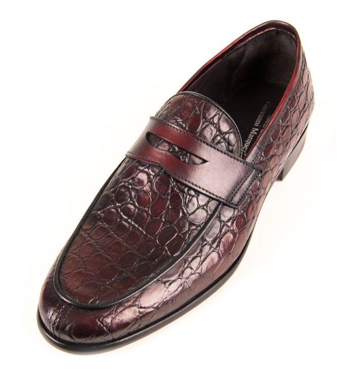 Giovanni Marquez Italian Men's Shoes - Textured Slip-On - Amar