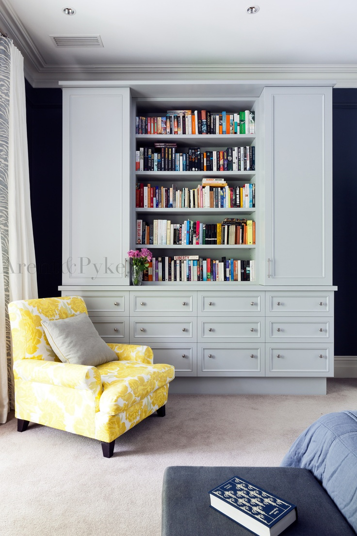 #woollahra #bedroom #bookcase #robe #grey #armchair #christopherfarr #cloth #arentpyke #arent #pyke