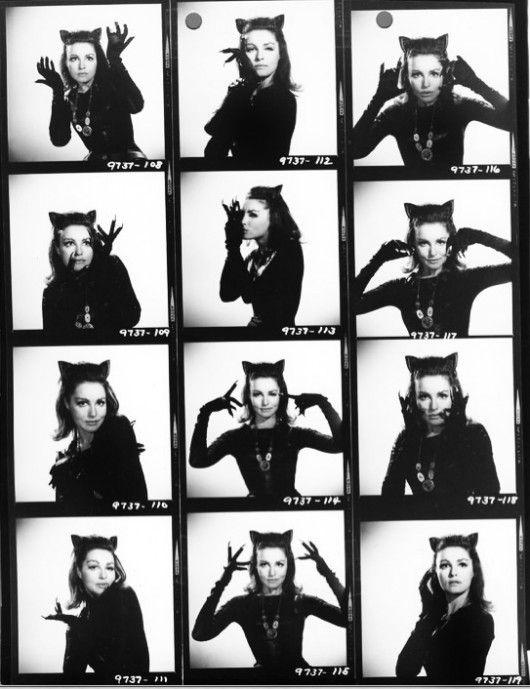 Contact sheet of Julie Newmar as Catwoman, circa 1960s
