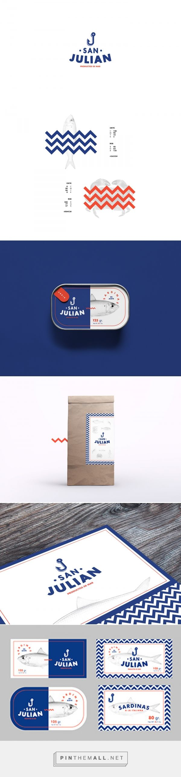 San Julian on Behance by Pablo Martínez Díaz. Buenos Aires, Argentina curated by Packaging Diva PD.  Diseño de marca y packaging para pescadería San Julian. Art direction, graphic design, branding, packaging.