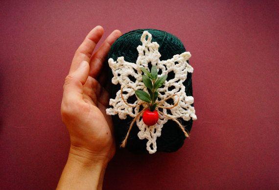 Crochet Snowflake Crochet Christmas decoration by KvitkaShop