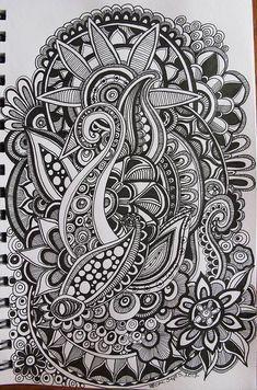 Zentangle Patterns : #Zentangle