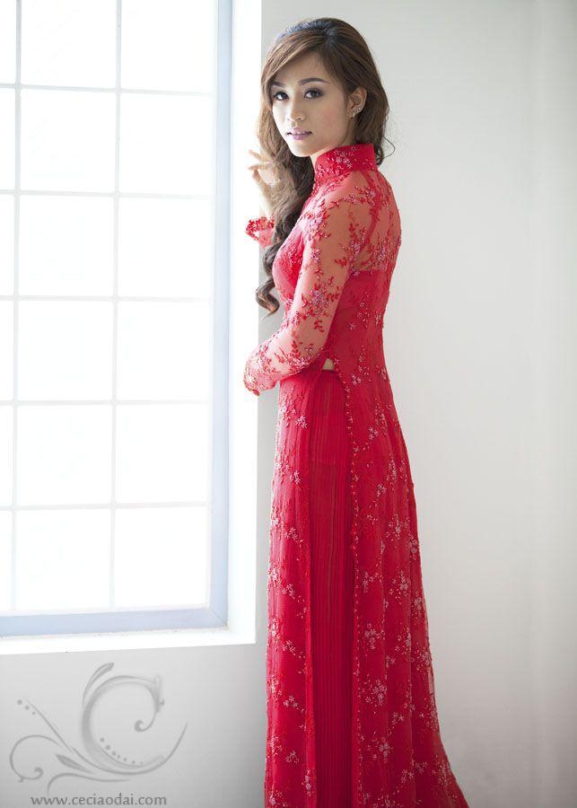 Vietnamese Bridal Ao Dai  http://www.ceciaodai.com