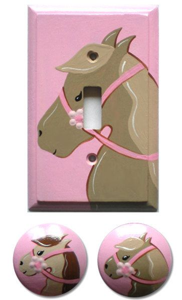 Kids Pony Horse Switchplate Lightswitch Cover to by DoodlesDecor, $25.00