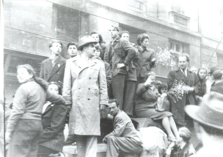 Tüntetők | Demonstrators riding a captured tank #revolution #1956 #hungary #houseofterror #communism #demonstration