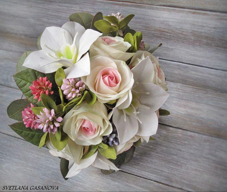 Ручной букет. Цветы из фоамирана ручной работы.