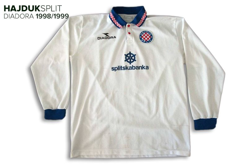 HNK Hajduk Split (Croatia) - 1998/1999 Diadora Home Shirt