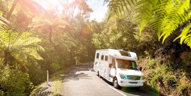 Travelling by motorhome is the ultimate way to go camping, though you need plenty of space to park when you get there. Photo / Supplied