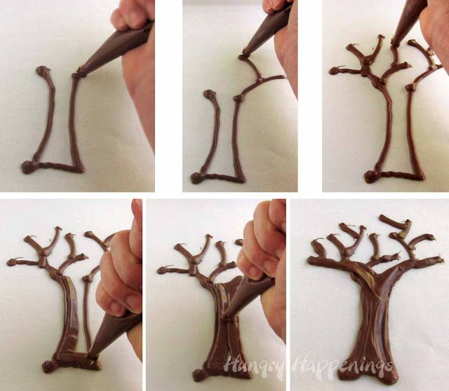 Celebrate Earth Day or Spring by making Chocolate Popcorn Trees - Hungry Happenings