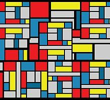 Mondo Mondrian Color Blocks by marsartpics available on apparel, cases and skins, mugs, stationery and home decor