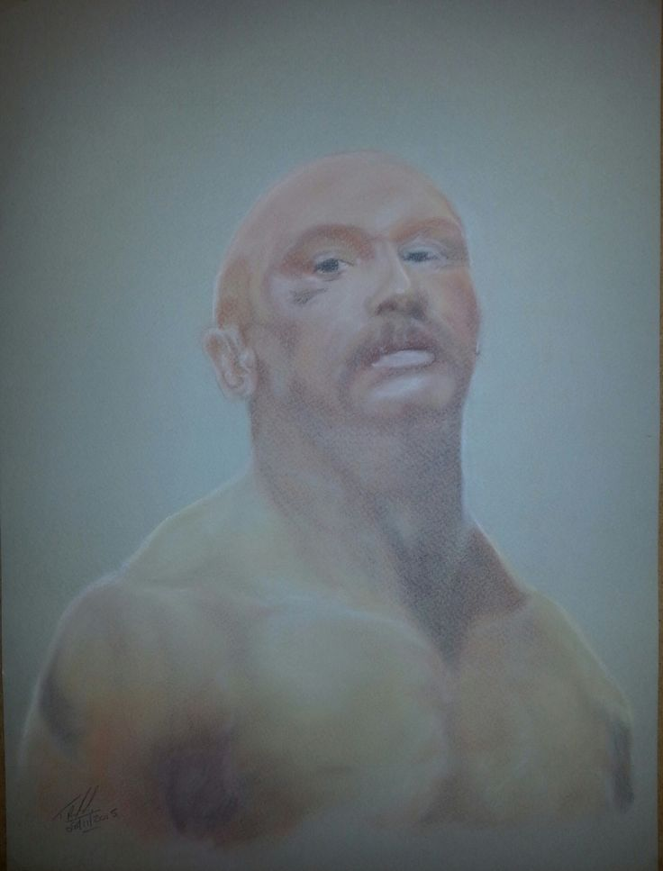 'Charles Bronson  (Michael Gordon Peterson)' by Trevor Smith. Soft pastel on 16x12, 98lb Daler Rowney paper.