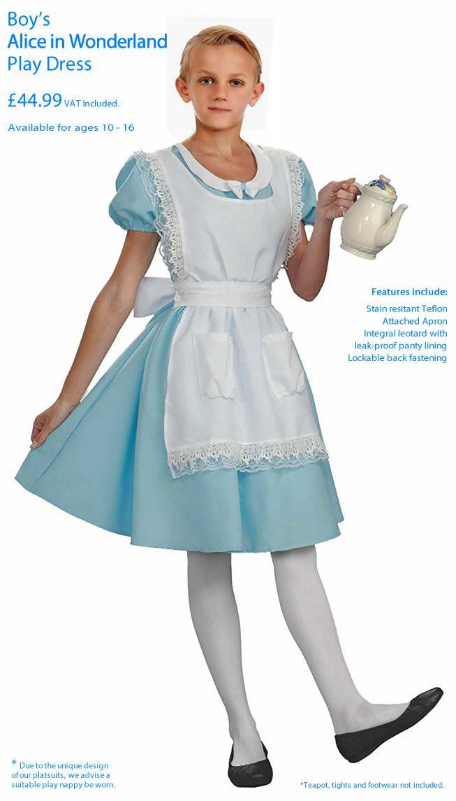 Boy's Alice in Wonderland playsuit: Pettiplay Apparel ...