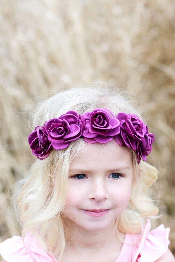 Orchid Dava Crown – Arrow & Lace Designs Floral Crown Headband Girl Flower Crown Headband