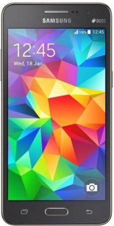 Samsung Galaxy Grand Prime VE Duos SM-G531H/DS Grey  — 9990 руб. —  Поддержка двух SIM-карт. Сенсорный экран. Операционная система: android 5.1 lollipop. Слот для карты памяти. FM-радио. Поддержка 3G (UMTS). Bluetooth. Поддержка Wi-Fi. Навигация GPS. Навигация ГЛОНАСС. Аудиоплеер. Смартфон