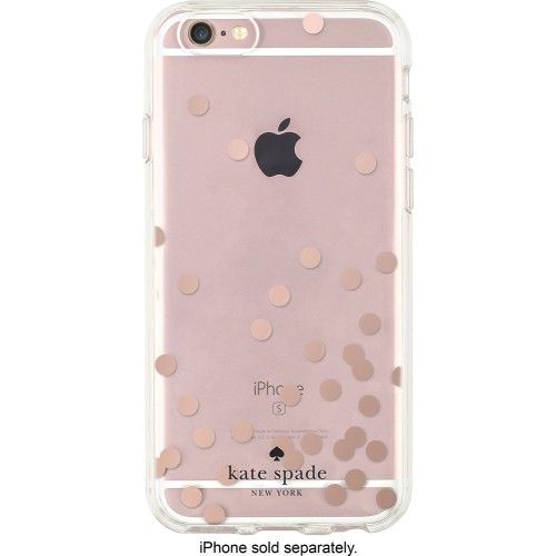 kate spade new york - Hard Shell Clear Case for Apple® iPhone® 6 and 6s - Rose Gold/Clear - AlternateView1 Zoom