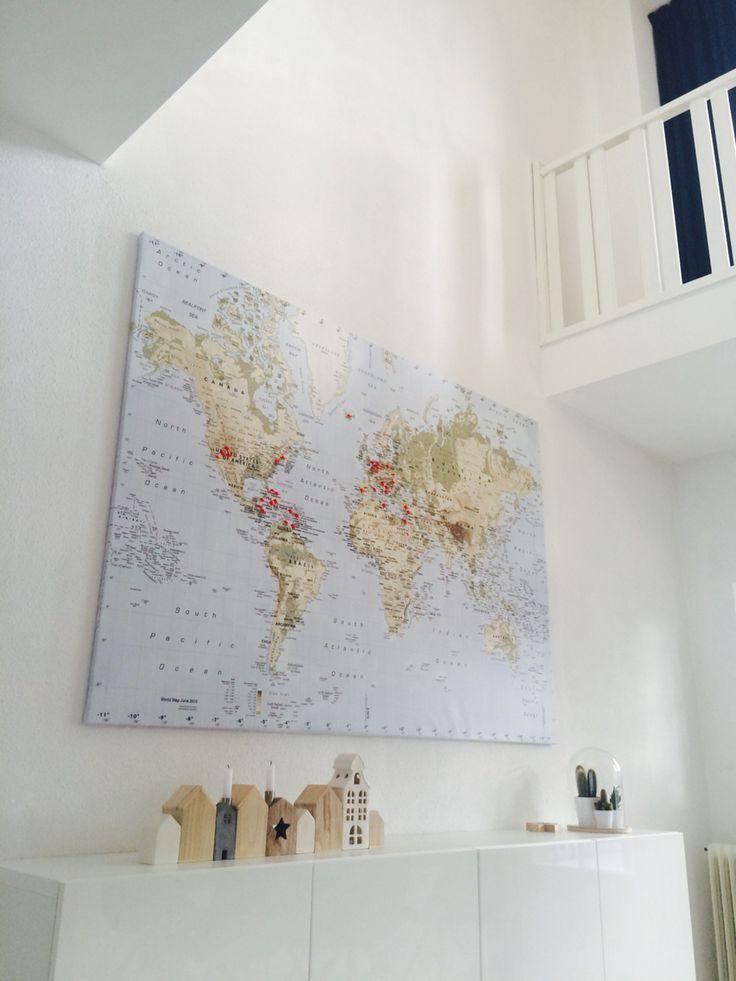 Love to travel ! #wereldkaartIkea