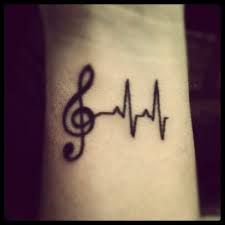 Heart beat around wrist, like that.   tattoos - Google Search