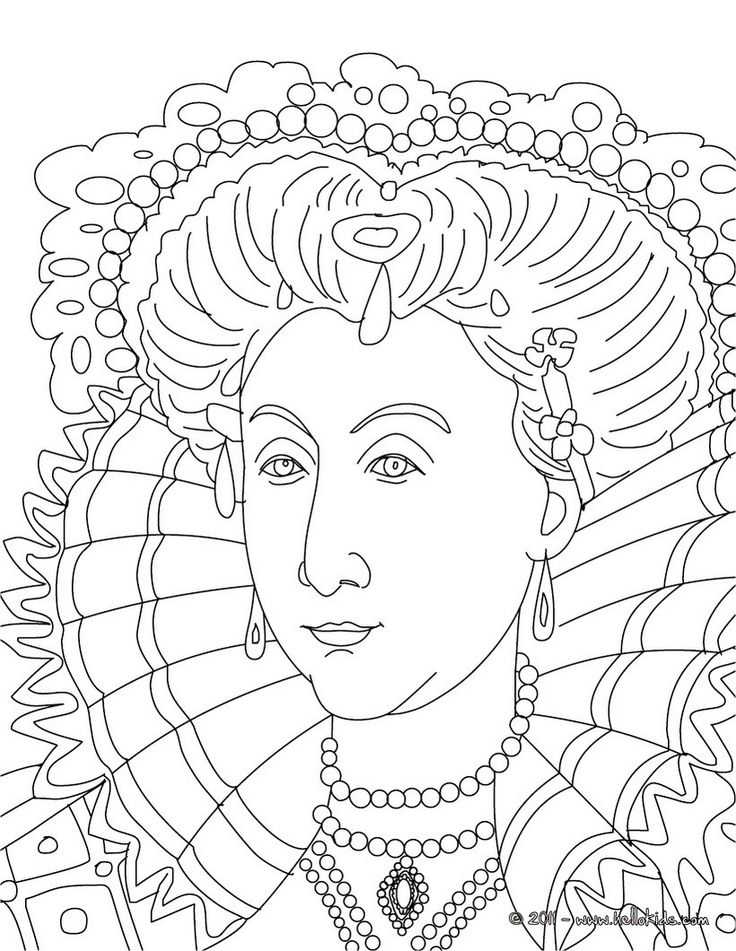 coloring pages of queens - photo#30