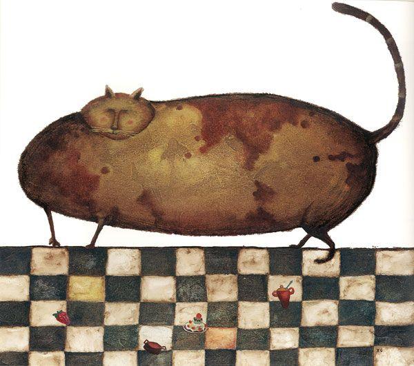Na záver – keďže nasledujúci rok bude Rokom Tlusťocha – Kocúr tlstý. © Xosé Cobas Gómez (Španielsko), BIB 2003
