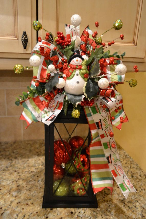 Whimsical Snowman Lantern Swag By Kristenscreations On
