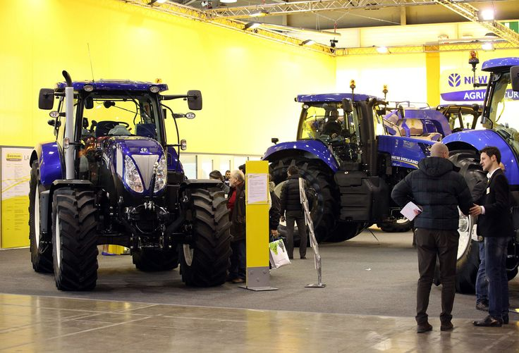 Agricultural machinery at Fieragricola 2012