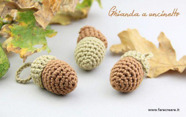 una ghianda #amigurumi con schema in italiano http://www.farecreare.it/come-fare-ghianda-amigurumi-schema-semplice/