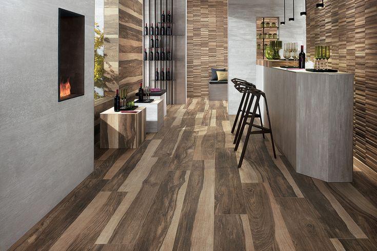 Suelo de madera de roble envejecido by PAUMATS #paumats #flooring #wood #sustainable #oak #interiordesign #interior #bar