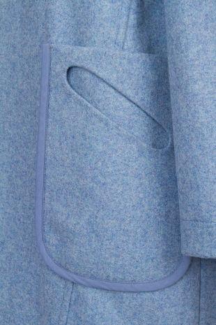 Oval pocket detail, one pocket or two? by Folk Clothing - Pod Coat in Cornfield Blue   Folk AW12