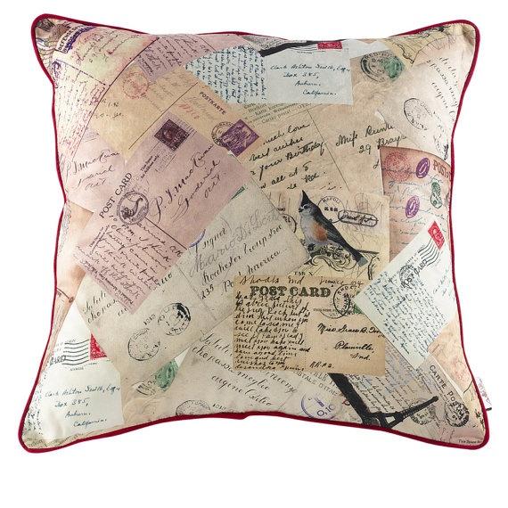 Pillow Remote Memories Apolena 17x17 by EscraftsHome on Etsy, $33.90