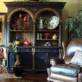 home decor: Dining Rooms, Country French, Decor Ideas, Books Shelves, Country Decor, French Country, House, Curio Cabinets, Country Furniture