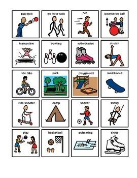 Physical Activity Picture Communication Symbols Boardmake