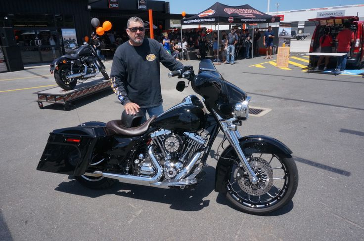 Rodney Gordon won best Touring with his Street Glide in the show and shine at the Gold Coast Harley-Davidson grand opening. Read all about it at http://motorbikewriter.com/harley-883-iron-dealership/