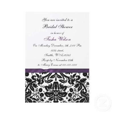 purple damask Bridal Shower Invitation Zazzle_invitation