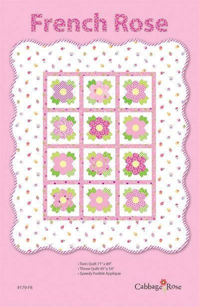 65 best Cabbage Rose images on Pinterest : french roses quilt pattern free - Adamdwight.com