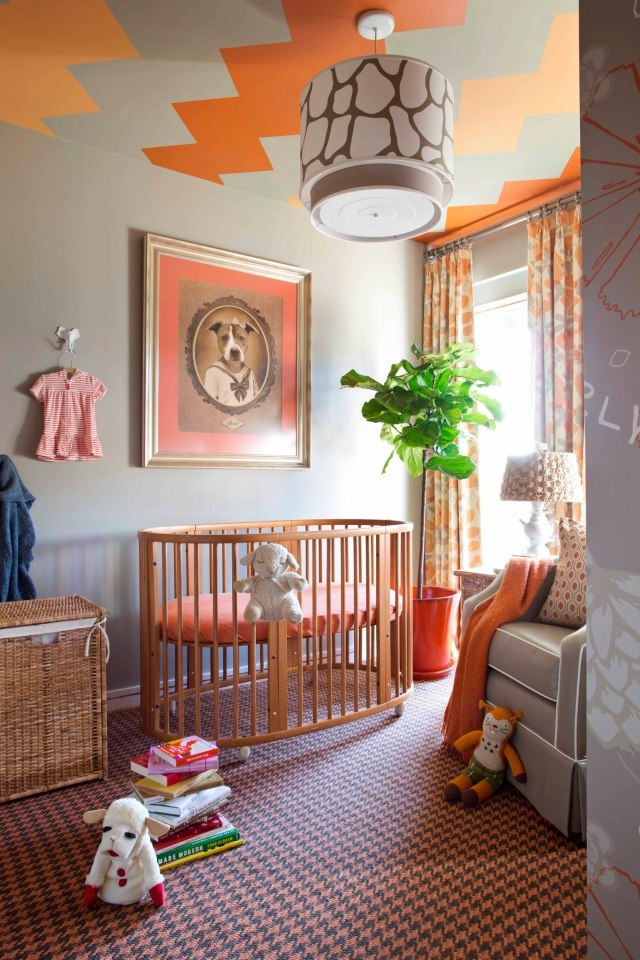 Decor never HAS to be predictable...even in the baby's room. You can choose the unexpected to create a fun and thought-provoking room, as shown in this room design by Brian Patrick Flynn.